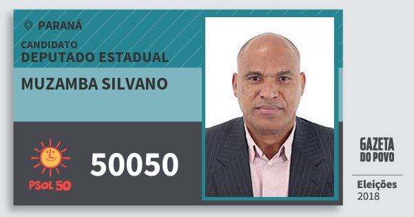 Santinho Muzamba Silvano 50050 (PSOL) Deputado Estadual | Paraná | Eleições 2018