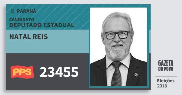 Santinho Natal Reis 23455 (PPS) Deputado Estadual | Paraná | Eleições 2018