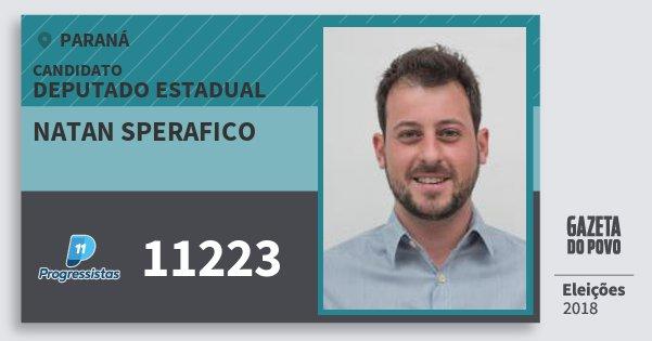 Santinho Natan Sperafico 11223 (PP) Deputado Estadual | Paraná | Eleições 2018