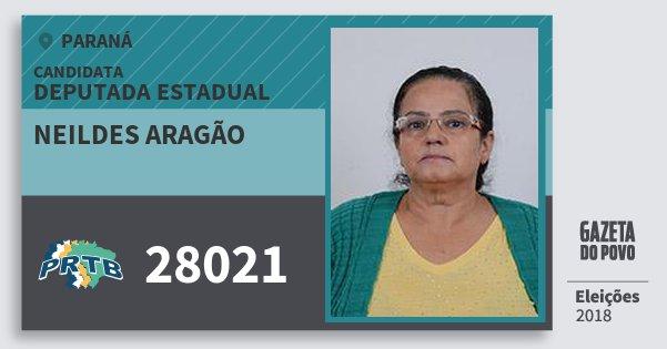 Santinho Neildes Aragão 28021 (PRTB) Deputada Estadual | Paraná | Eleições 2018