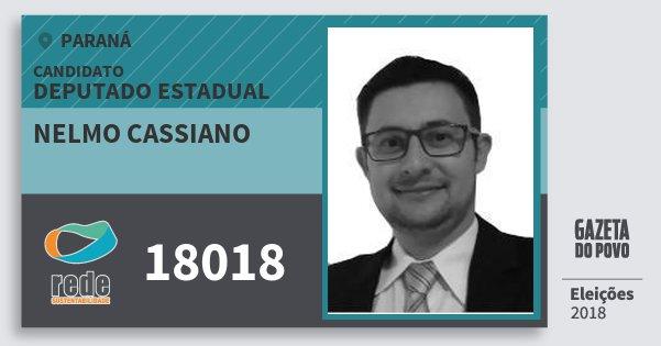 Santinho Nelmo Cassiano 18018 (REDE) Deputado Estadual | Paraná | Eleições 2018