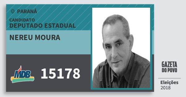 Santinho Nereu Moura 15178 (MDB) Deputado Estadual | Paraná | Eleições 2018