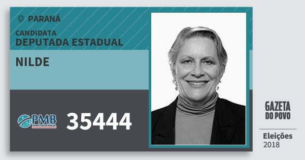 Santinho Nilde 35444 (PMB) Deputada Estadual | Paraná | Eleições 2018