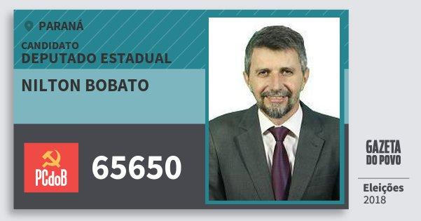 Santinho Nilton Bobato 65650 (PC do B) Deputado Estadual | Paraná | Eleições 2018