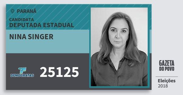 Santinho Nina Singer 25125 (DEM) Deputada Estadual | Paraná | Eleições 2018