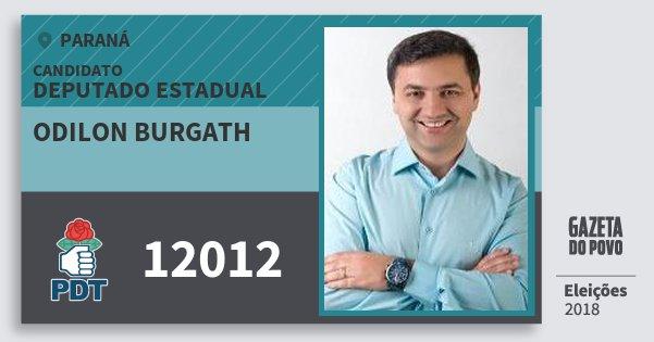 Santinho Odilon Burgath 12012 (PDT) Deputado Estadual | Paraná | Eleições 2018