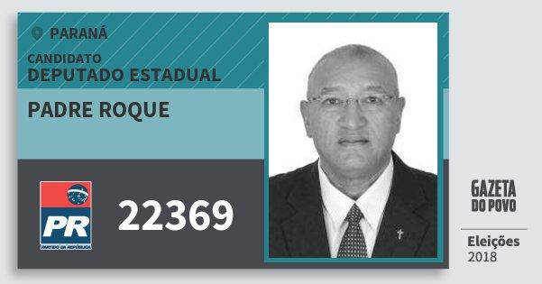 Santinho Padre Roque 22369 (PR) Deputado Estadual | Paraná | Eleições 2018
