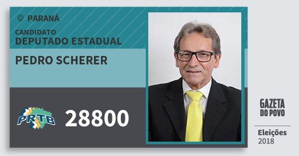 Santinho Pedro Scherer 28800 (PRTB) Deputado Estadual | Paraná | Eleições 2018