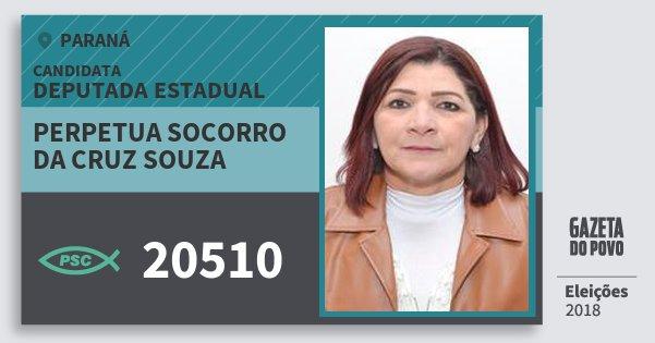 Santinho Perpetua Socorro da Cruz Souza 20510 (PSC) Deputada Estadual | Paraná | Eleições 2018