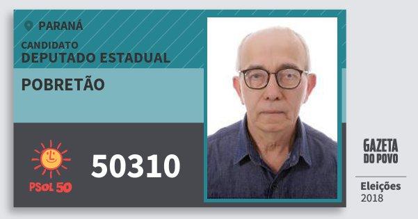 Santinho Pobretão 50310 (PSOL) Deputado Estadual | Paraná | Eleições 2018