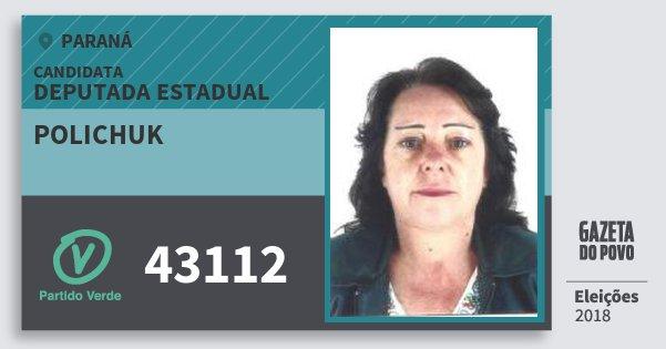 Santinho Polichuk 43112 (PV) Deputada Estadual | Paraná | Eleições 2018