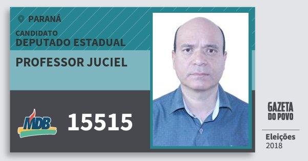 Santinho Professor Juciel 15515 (MDB) Deputado Estadual | Paraná | Eleições 2018
