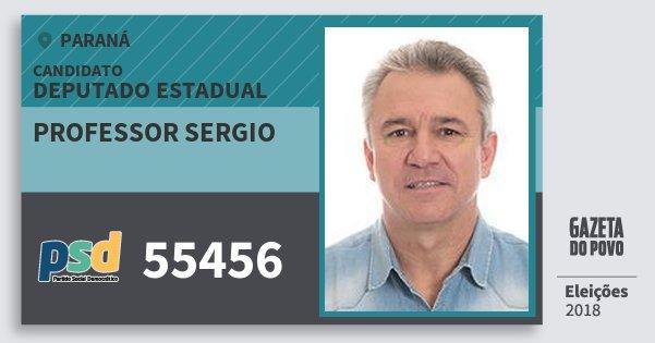Santinho Professor Sergio 55456 (PSD) Deputado Estadual | Paraná | Eleições 2018
