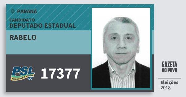 Santinho Rabelo 17377 (PSL) Deputado Estadual | Paraná | Eleições 2018