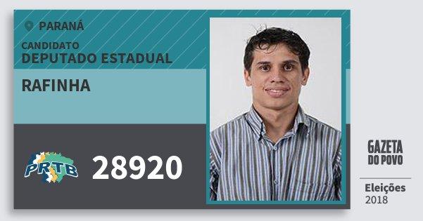Santinho Rafinha 28920 (PRTB) Deputado Estadual | Paraná | Eleições 2018