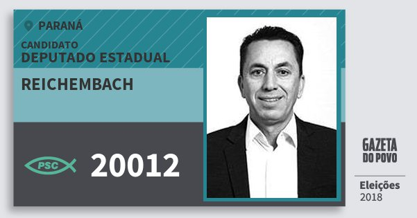 Santinho Reichembach 20012 (PSC) Deputado Estadual | Paraná | Eleições 2018
