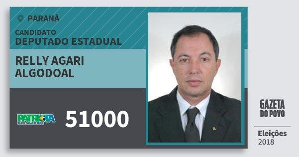Santinho Relly Agari Algodoal 51000 (PATRI) Deputado Estadual | Paraná | Eleições 2018