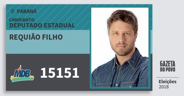 Santinho Requião Filho 15151 (MDB) Deputado Estadual | Paraná | Eleições 2018