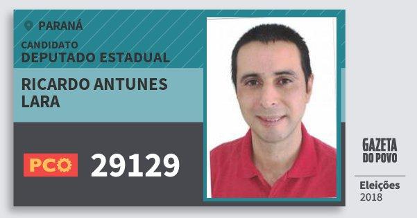 Santinho Ricardo Antunes Lara 29129 (PCO) Deputado Estadual | Paraná | Eleições 2018