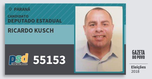 Santinho Ricardo Kusch 55153 (PSD) Deputado Estadual | Paraná | Eleições 2018