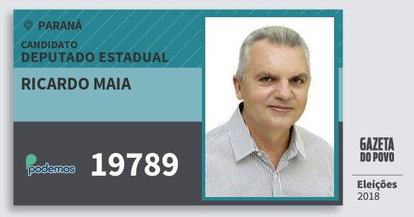 Santinho Ricardo Maia 19789 (PODE) Deputado Estadual | Paraná | Eleições 2018