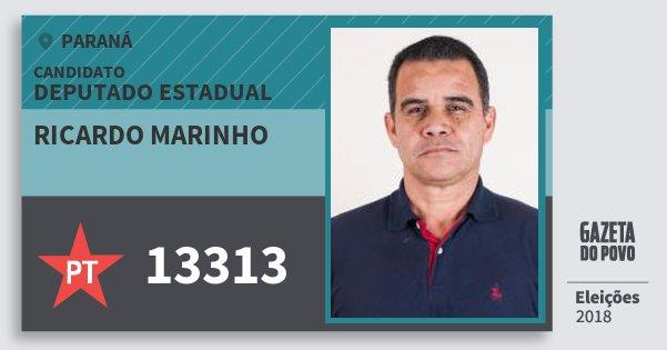 Santinho Ricardo Marinho 13313 (PT) Deputado Estadual | Paraná | Eleições 2018