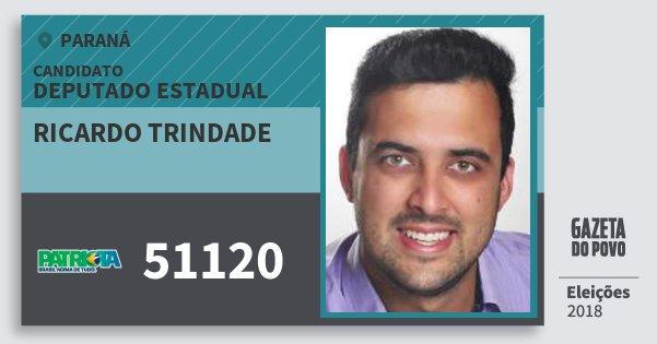 Santinho Ricardo Trindade 51120 (PATRI) Deputado Estadual | Paraná | Eleições 2018