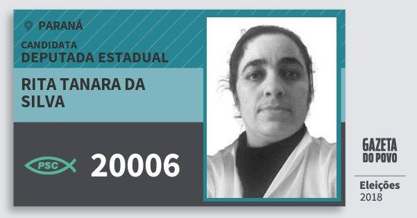 Santinho Rita Tanara da Silva 20006 (PSC) Deputada Estadual | Paraná | Eleições 2018