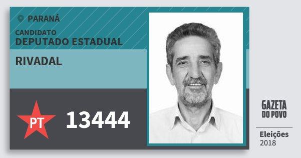 Santinho Rivadal 13444 (PT) Deputado Estadual | Paraná | Eleições 2018