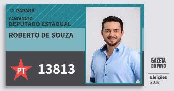 Santinho Roberto de Souza 13813 (PT) Deputado Estadual | Paraná | Eleições 2018