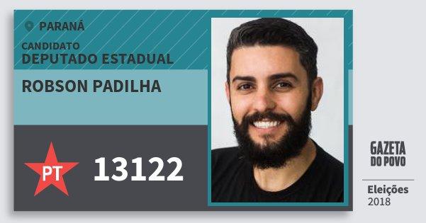 Santinho Robson Padilha 13122 (PT) Deputado Estadual | Paraná | Eleições 2018