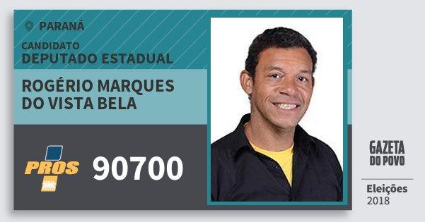 Santinho Rogério Marques do Vista Bela 90700 (PROS) Deputado Estadual | Paraná | Eleições 2018