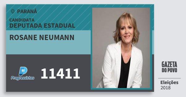 Santinho Rosane Neumann 11411 (PP) Deputada Estadual | Paraná | Eleições 2018