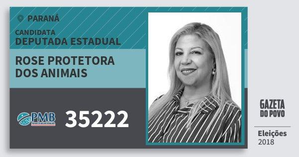 Santinho Rose Protetora dos Animais 35222 (PMB) Deputada Estadual | Paraná | Eleições 2018