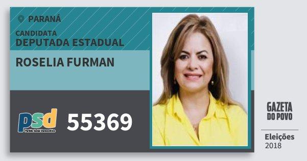 Santinho Roselia Furman 55369 (PSD) Deputada Estadual | Paraná | Eleições 2018