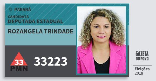 Santinho Rozangela Trindade 33223 (PMN) Deputada Estadual | Paraná | Eleições 2018