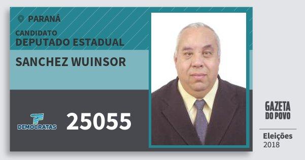 Santinho Sanchez Wuinsor 25055 (DEM) Deputado Estadual | Paraná | Eleições 2018
