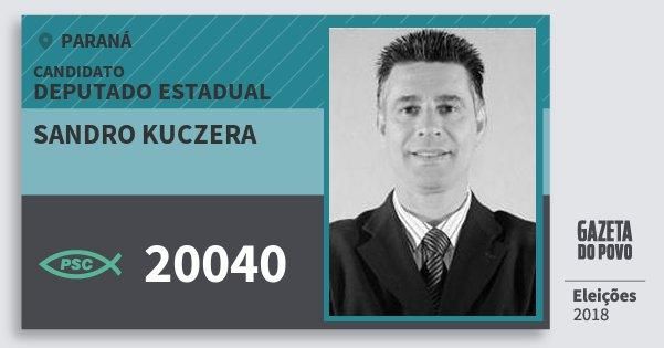 Santinho Sandro Kuczera 20040 (PSC) Deputado Estadual | Paraná | Eleições 2018