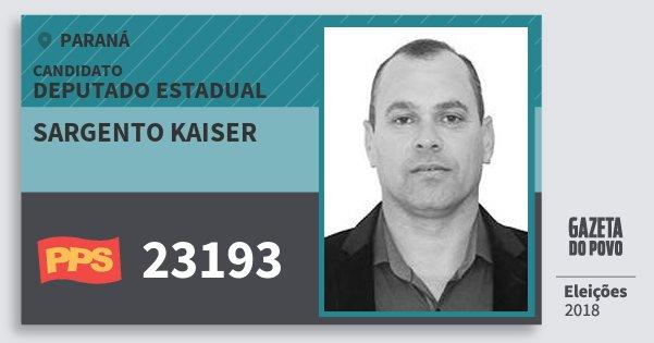 Santinho Sargento Kaiser 23193 (PPS) Deputado Estadual | Paraná | Eleições 2018