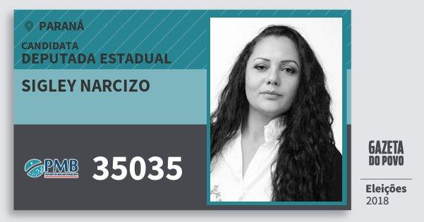 Santinho Sigley Narcizo 35035 (PMB) Deputada Estadual | Paraná | Eleições 2018
