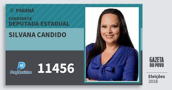 Santinho Silvana Candido 11456 (PP) Deputada Estadual | Paraná | Eleições 2018