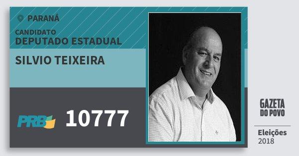 Santinho Silvio Teixeira 10777 (PRB) Deputado Estadual | Paraná | Eleições 2018