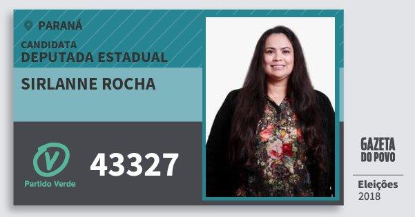 Santinho Sirlanne Rocha 43327 (PV) Deputada Estadual | Paraná | Eleições 2018
