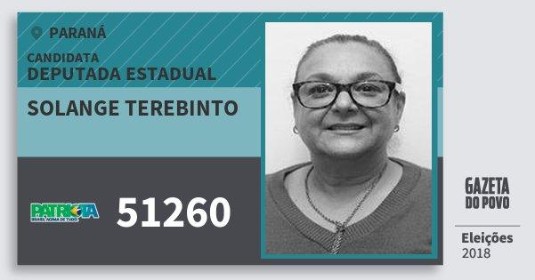 Santinho Solange Terebinto 51260 (PATRI) Deputada Estadual | Paraná | Eleições 2018