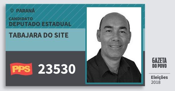 Santinho Tabajara do Site 23530 (PPS) Deputado Estadual | Paraná | Eleições 2018