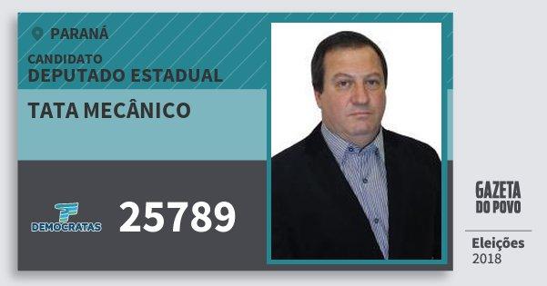 Santinho Tata Mecânico 25789 (DEM) Deputado Estadual | Paraná | Eleições 2018