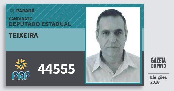Santinho Teixeira 44555 (PRP) Deputado Estadual | Paraná | Eleições 2018