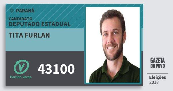 Santinho Tita Furlan 43100 (PV) Deputado Estadual | Paraná | Eleições 2018