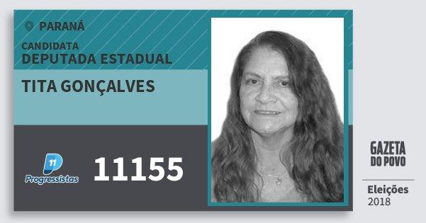 Santinho Tita Gonçalves 11155 (PP) Deputada Estadual | Paraná | Eleições 2018