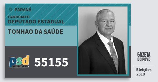 Santinho Tonhao da Saúde 55155 (PSD) Deputado Estadual | Paraná | Eleições 2018